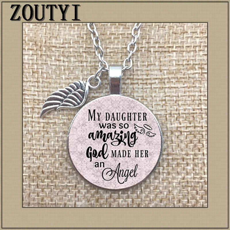 Commemorative charm, daughter's loss, my daughter is amazing, God makes her an angel, I miss my daughter very much