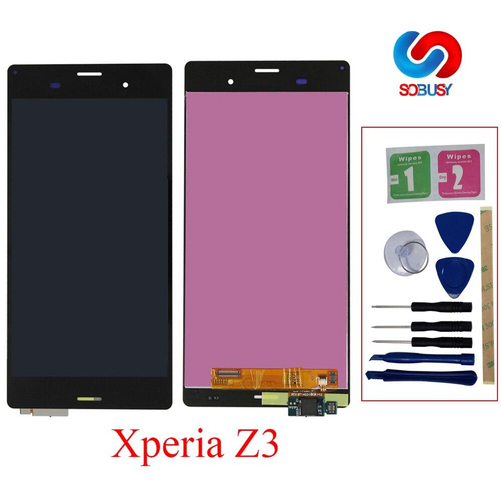 A + LCD Pour SONY Xperia Z3 LCD Affichage D6603 D6633 D6653 L55T Pour SONY Xperia Z3 Double LCD Affichage écran tactile avec Cadre Remplacer