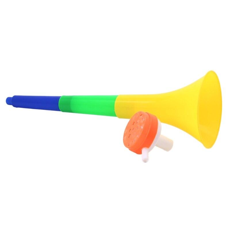 Estádio de futebol torcida fã chifres bola de futebol vuvuzela cheerleading miúdo trompete entretenimento