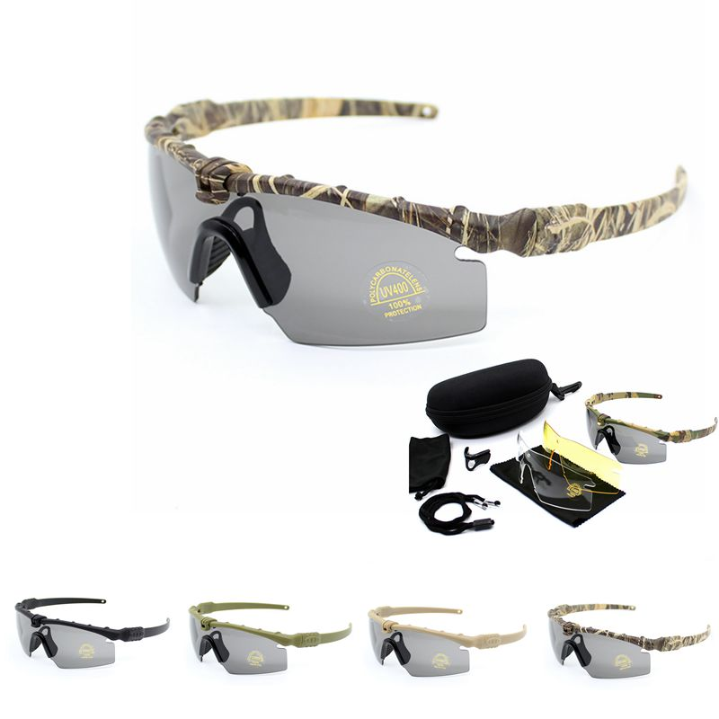 UV400 Protection Military Sunglasses Shooting Hunting Camping Outdoor Sunglasses Tactical Glasses Outdoor Sport Goggles Glasses