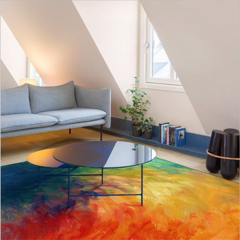 US $98.25 25% OFF|New Modern Soft Nylon Colorful Large Carpets For Living  Room Bedroom Kid Room Rugs Home Carpet Floor Door Mat Fashion Area Rug-in  ...