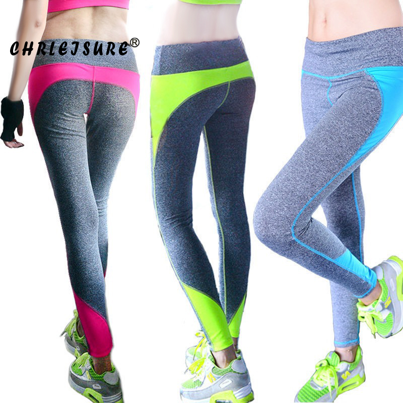 CHRLEISURE S XL Women Fashion Leggings Spandex Patchwork Push Up Hip Leggings Breathable Workout Femme Legging