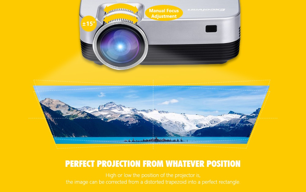 Excelvan Q6 Mini Portable LED Projector 1800Lumen Touch Panel Multimedia Video Projecyor Support 1080P HDMI VGA USB Home Theater (5)