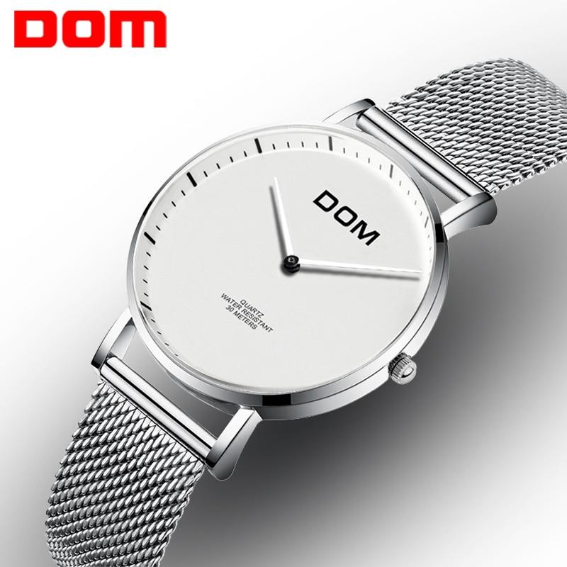 DOM Womens Watch Top Luxury Brand Fashion Quartz Stainless Steel Wrist Watch Minimalist Watch Ladies Relogio Feminino G-36D-7MS