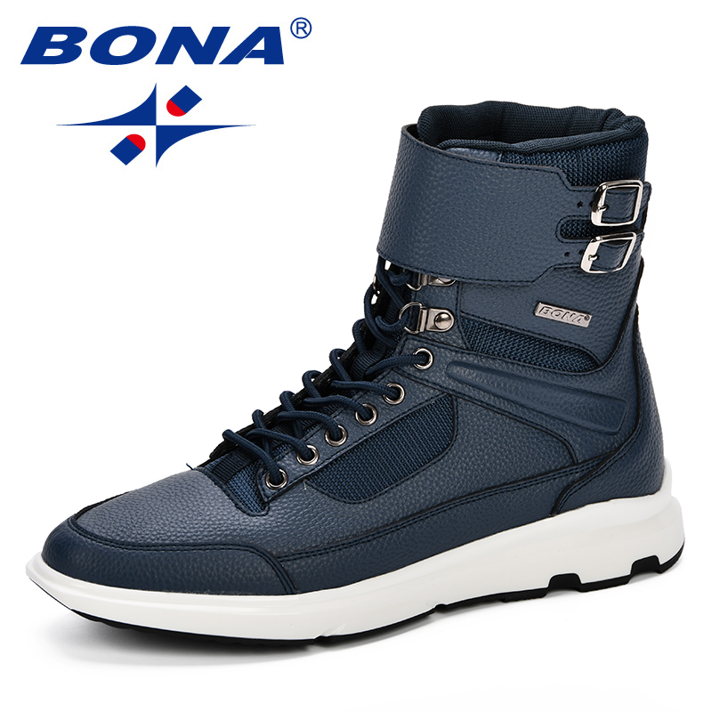 71381d83c0 Tobillo Grey Hombres Top Para dark Zapatos Moda Alta Calzado Black Blue  Otoño Bona deep Hombre ...