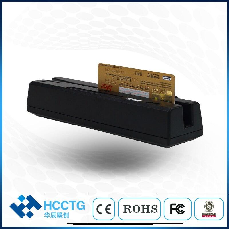 Lecteur de carte Rfid magnétique USB tout en un 1/2/3 pour puce MSR & IC et carte Psam HCC-110