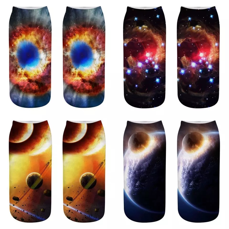 Space Star Series 3d Printed Socks,Man,Women And Children Socks, A Variety Of Styles Can Be Selected,Fashion Cute Lovely Socks