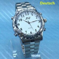 Deutsch Sprech zegarek dla osób niewidomych lub osób niedowidzących niemiecki rozmowa w Zegarki dla zakochanych od Zegarki na