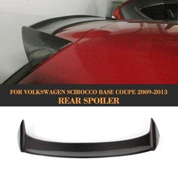 Sợi Carbon sau mái wingow Boot môi cánh ĐẦM XÒE DỰ Volkswagen VW Scirocco Tiêu Chuẩn Chỉ 2008-2013 Không cho R