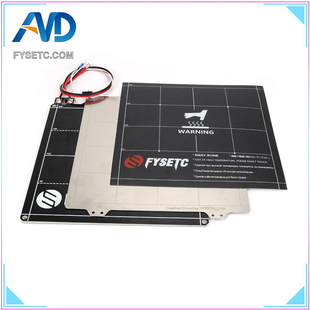 220*220mm 3D Printer MK3 Magnetic Heated Bed 24V Wiring Thermistor Kit With Steel Sheet For MK3 Ender 5 3D Printer Parts
