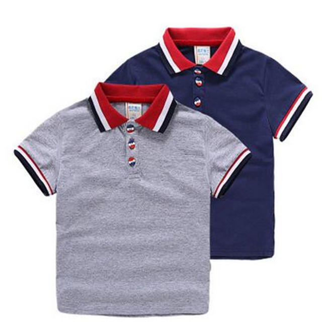 94f40325ce5 Bebé Niños Polo camisa ropa de verano de los niños bebé niño marca 100%  algodón