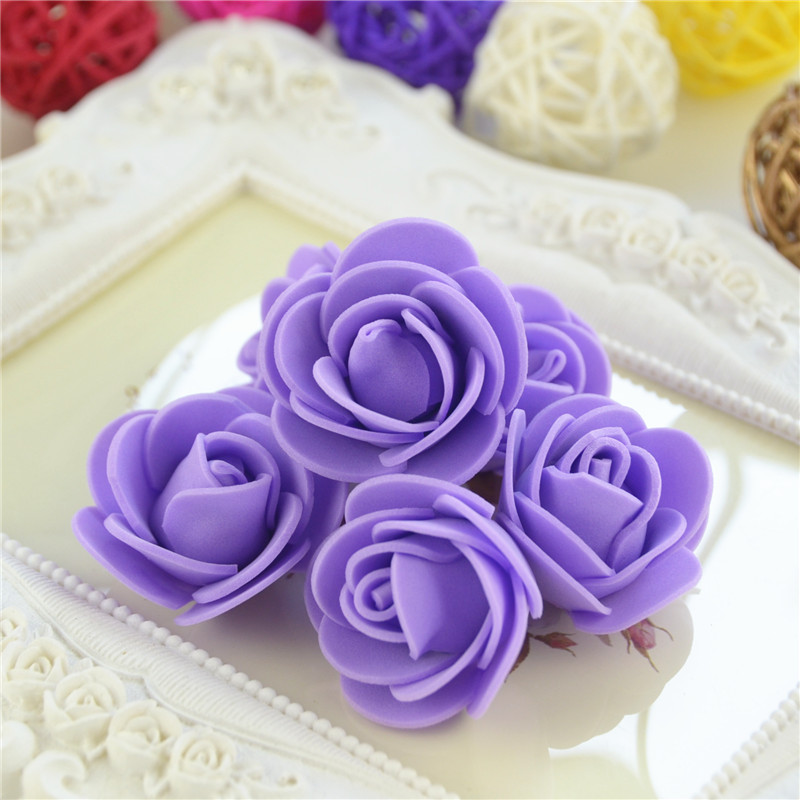50pcs/Bag Multicolor Mini Rose Head Artificial Flowers For Wedding And Festival Party 23