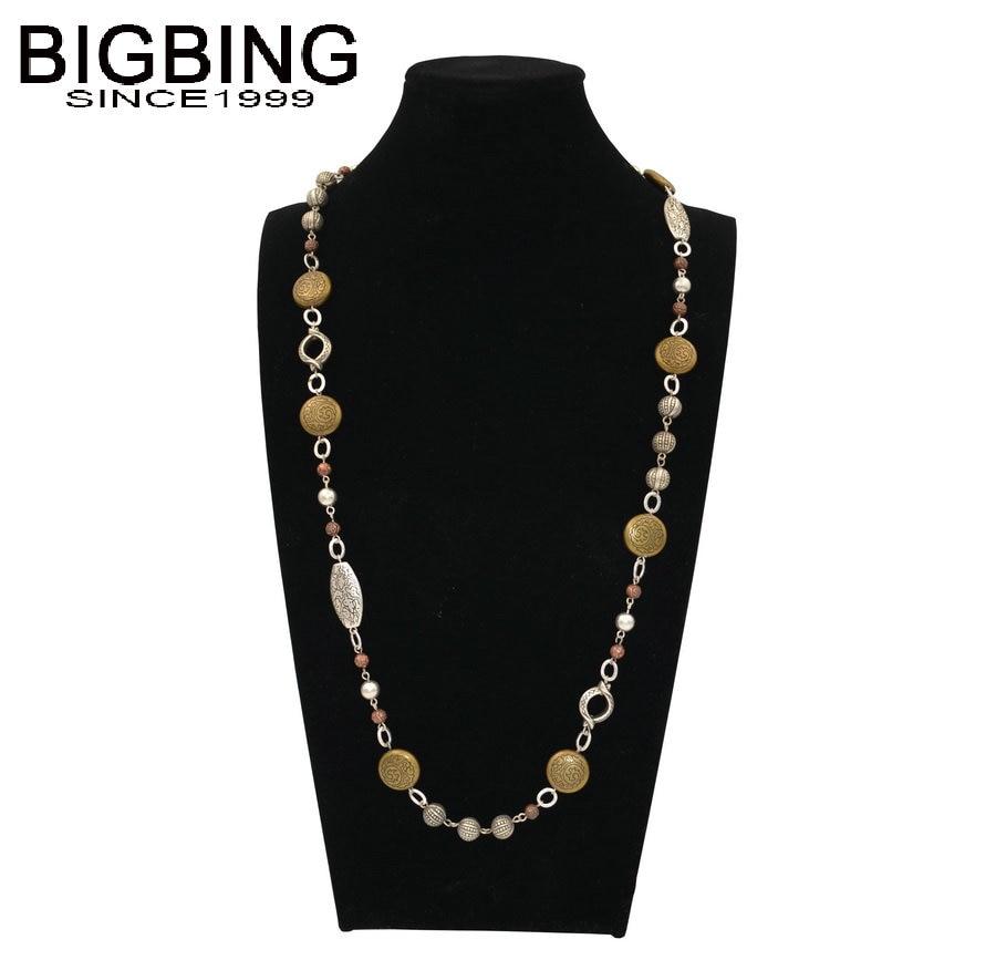 Bigbing Fashion Jewelry Fashion Beads Pendant Long Necklace 3 Styles Woman Wholesale Jewelry
