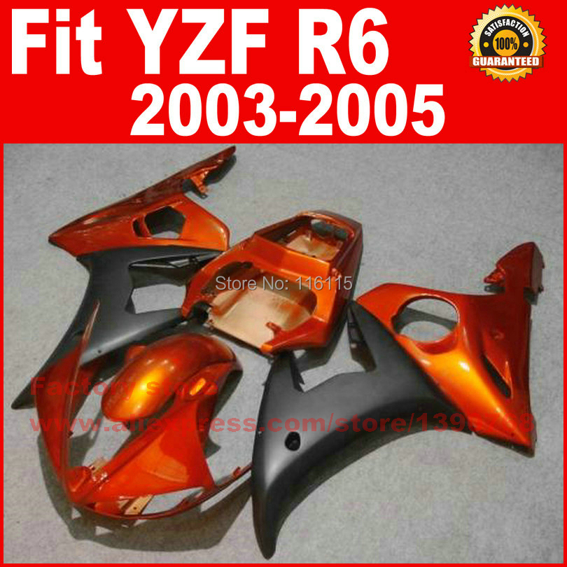 Custom ABS motorcycle fairings kit for YAMAHA R6 2003 2004 2005 YZF R6 03 04 05  red golden fairing kits motorcycle front light headlight head lamp for yamaha yzf r6 yzfr6 yzf r6 2003 2004 2005 03 04 05