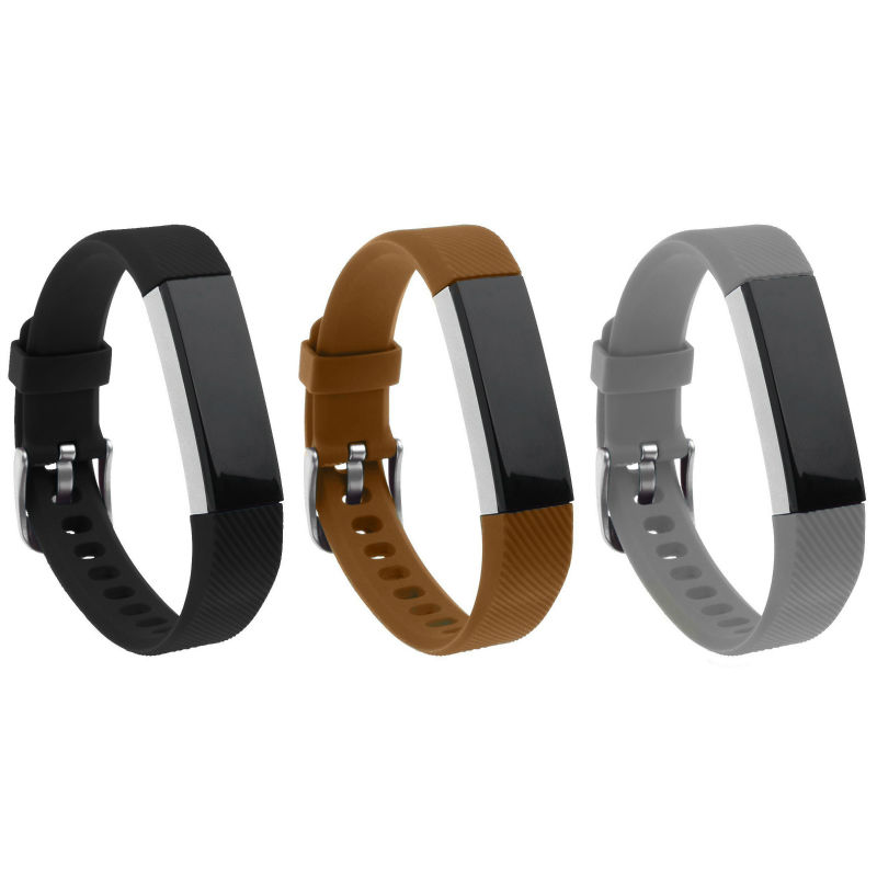 US $12 31 5% OFF|Silicon bands for fitbit alta Ace with metal buckle,only  band High quality watch metal buckle Prevent Tracker Fall Off 3pcs/lot-in