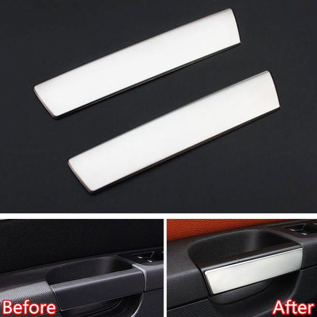 YAQUICKA Car Front and Middle Door Handle Grab Cover Trim Sticker ...