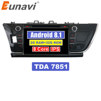 Eunavi 9'' Double 2 Din Android 8.1 Octa core Car DVD Radio Stereo player GPS Navigation for Toyota Corolla 2013 2014