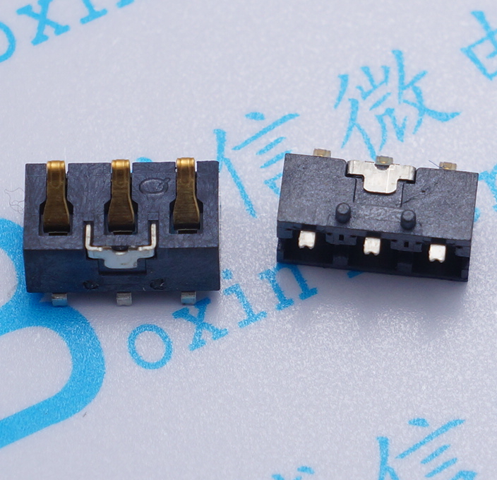 3000pcs/lot 3.0mm spacing 3pin battery bridge 4.6mm height of shell type battery With positioning column free shippingConnectors   -