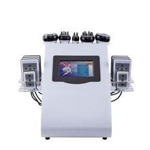 40K 6 en 1 ultrasonido liposucción presión negativa doble color Radio Frecuencia instrumento láser pérdida de peso cuerpo de fibra aparatos