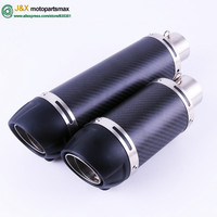E Mark Universal Motorcycle Slip On Exhaust Muffler for 150cc ~ 750cc All Motorbike