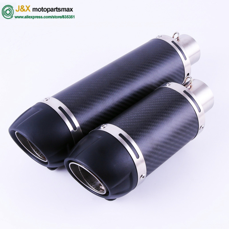 E-Mark Universal Motorcycle Slip On Exhaust Muffler for 150cc ~ 750cc All Motorbike title=