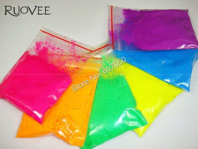 aliexpress com buy 60gram mixed 6 neon colors fluorescent neon