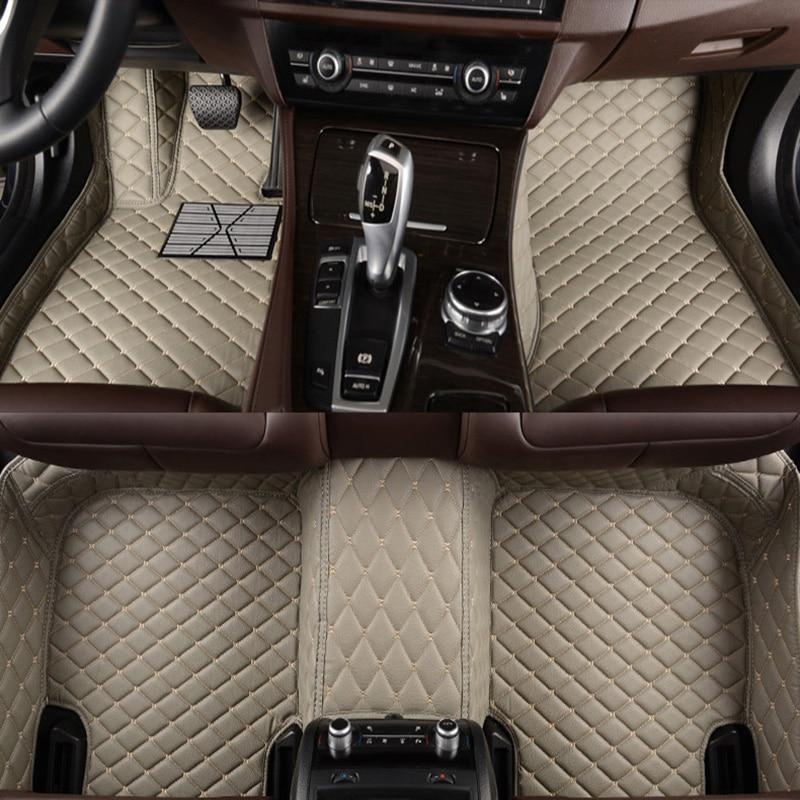 Flash de couro tapete tapetes do assoalho do carro para BMW e30 e34 e36 e39 e46 e60 e90 f10 f30 x1 x3 x4 x5 x6 1/2/3/4/5/6/7 accessorie carro styling