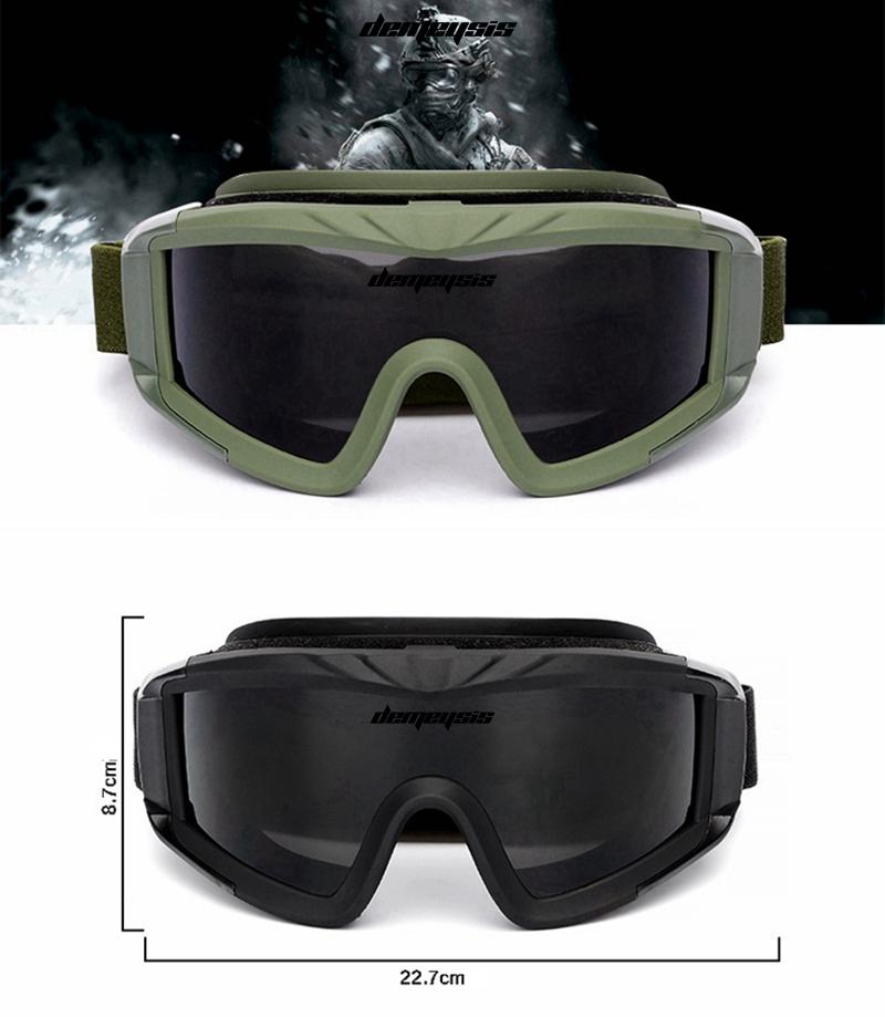 EnzoDate Gafas de Sol Militares Alpha Ballistic Tactical Army Sunglasses Airsoft CS Paintball Glasses 3 Kit de Lentes