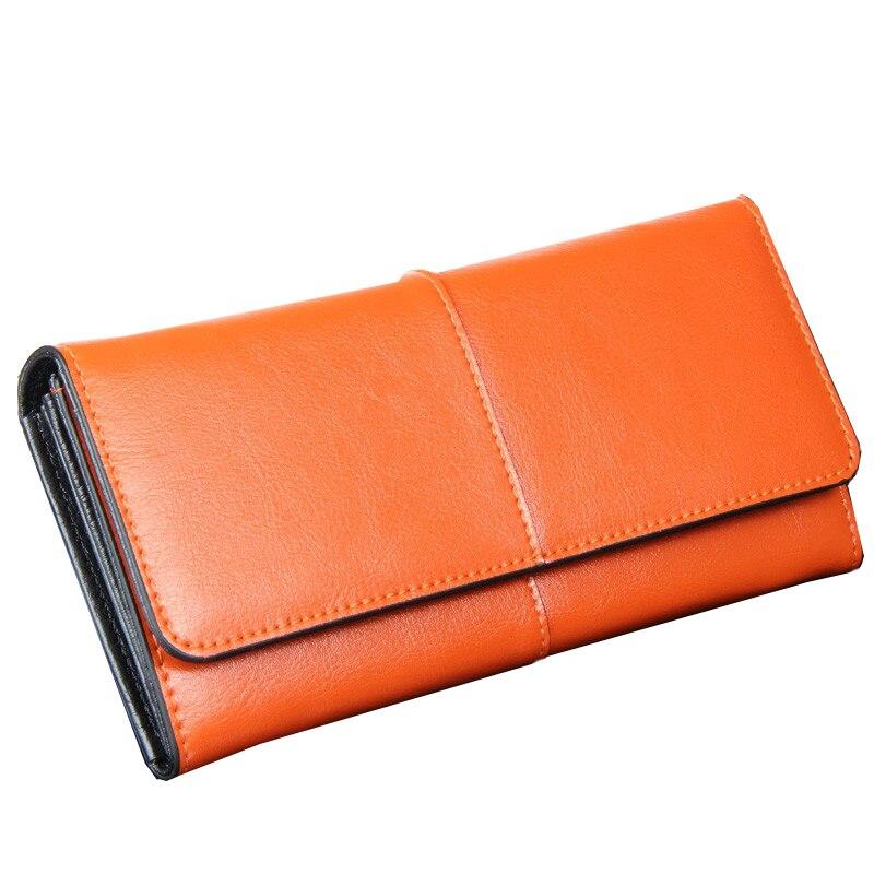2017 Fashion Women Wallets Split Leather Wallet Female Long Organizer Clutch Vintage Lady Carteira Coin Purse