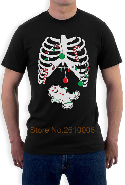 gingerbread shirt funny christmas rib cage xray gingerbread skeleton t shirt gift