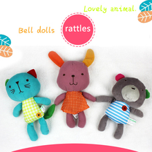 Rabbit Bear Cat 3 Type Of font b Baby b font Plush Hand Grasp font b