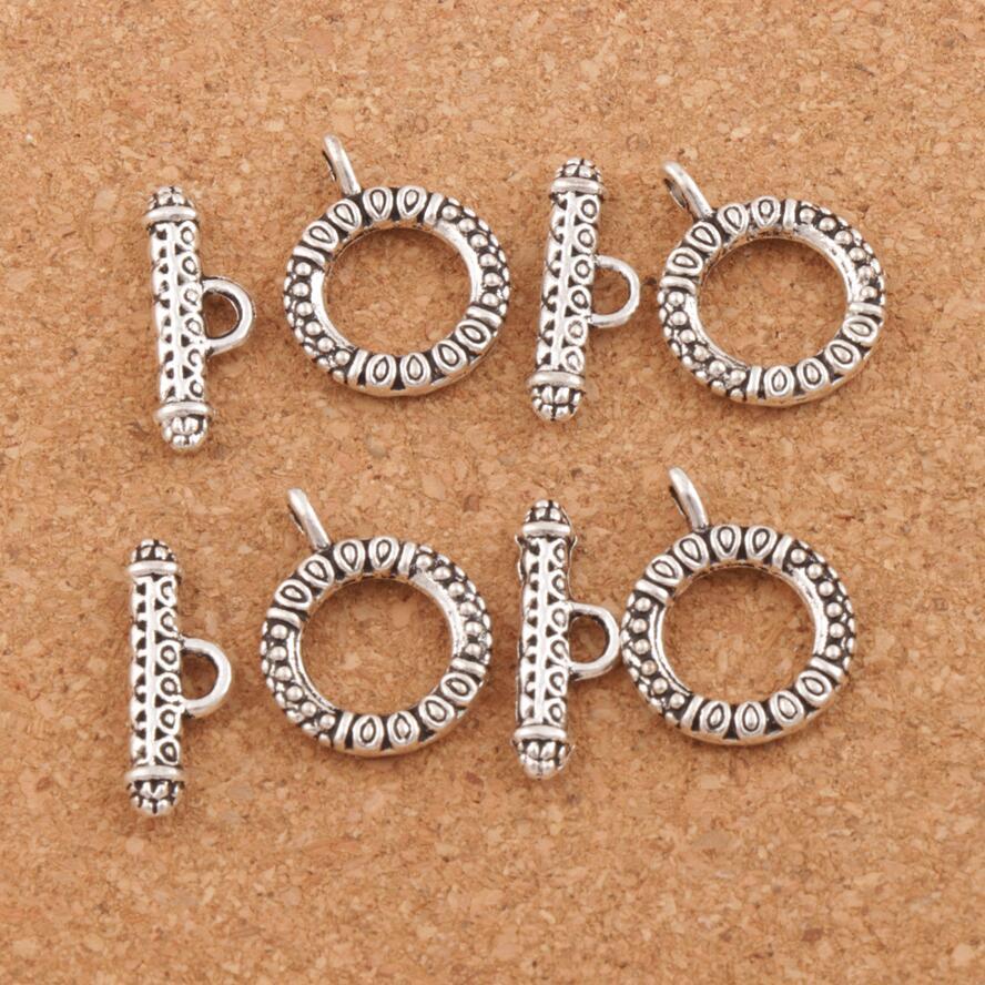 Evil Eye Round Bracelet Toggle Clasp Jewelry DIY Findings 100sets Zinc Alloy Fit Bracelets L853