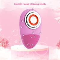Mini EMS Electric Facial Cleansing Brush Sonic Vibration Deep Cleaning Pore Cleanser Silicone Skin Care Massage Face Brush PJ