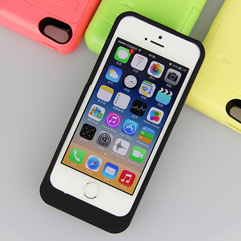 For iphone 5 5s 2200mAh Rechargeable External Battery ...