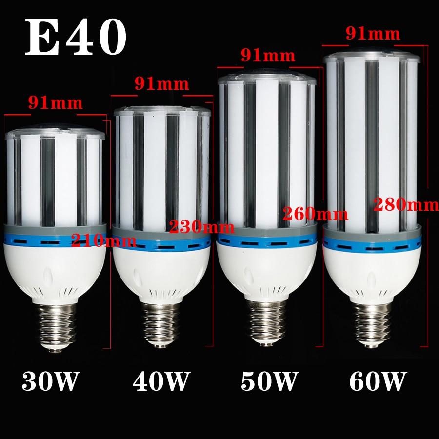 E40 30W/40W/50W/60W SMD5630 LED Light Bulb Lamp Cool White/Warm White Super Brightness Energy Saving Corn Bulb Lighting tanbaby corn bulb e27 smd 5730 5630 7w 12w 15w 25w 30w 40w 50w warm white led light lamp 360degree lighting indoor