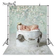Spring Green Floral Thin Vinyl Shower Backdrops Photo backgrounds Newborn Baby Photo Backdrops Photography Studio Kids Backdrop