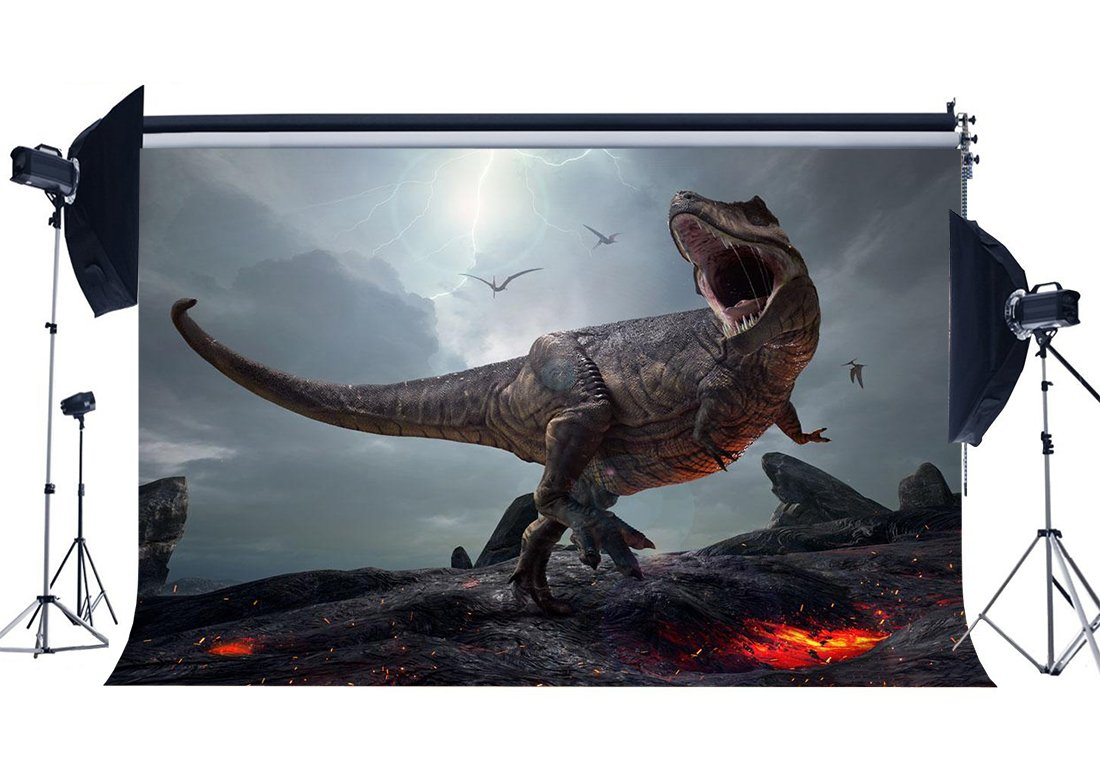 3D Dinosaur Backdrop Jurassic Period Cartoon Backdrops Scary Flying Dinosaur Fairytale Photography Background-in Photo Studio Accessories from Consumer Electronics