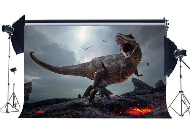 3D Dinosauro Sfondo Jurassic Periodo Del Fumetto Fondali Spaventoso Volare Dinosauro Fairytale Fotografia di Sfondo