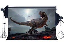 3D dinosaure toile de fond jurassique période dessin animé arrière plan effrayant vol dinosaure conte de fées photographie fond