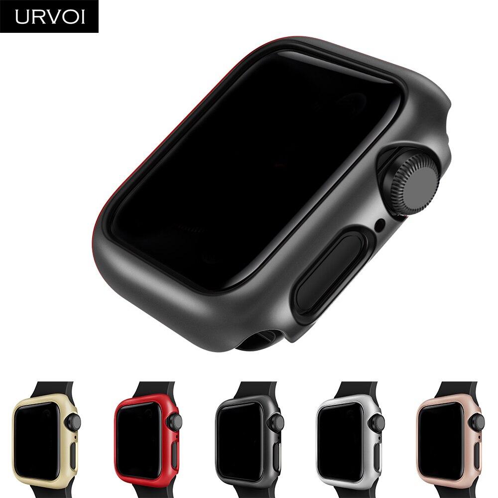Чехол URVOI для apple watch series 4 5 SE 6, чехол для iwatch, защитный пластиковый бампер, тонкий Чехол 40 44 мм