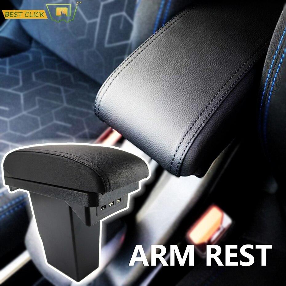 Armrest For Peugeot 2008 Black Leather Center New Storage Box Modification
