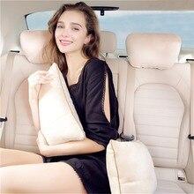 Универсальная автомобильная подушка для сиденья, подголовник для поясницы, высококлассная кашемировая подушка для головы, поясная подушка для автомобиля, офисные сиденья для KIA K2