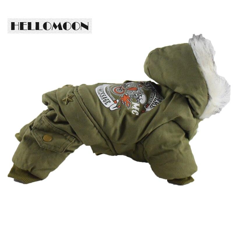 कुत्तों के लिए हेल्लोमून शीतकालीन वस्त्र कपास ठोस शरद ऋतु / शीतकालीन कुत्ते कपड़े चिहुआहुआ जैकेट पालतू हुडी कुत्ते कोट कुत्ते के कपड़े