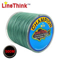 500 m GHAMPION LineThink marca 8 hilos/8 armadura mejor calidad multifilamento PE línea de pesca trenzada de pesca trenza envío gratuito