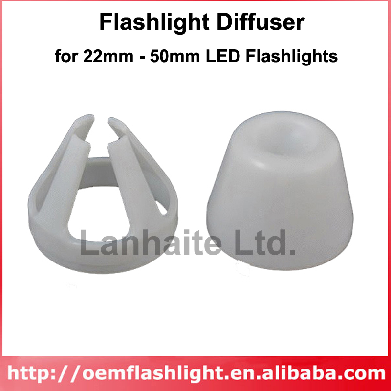 Beam Light Flashlight Diffuser For 22mm - 50mm LED Flashlights ( 1 Pc )