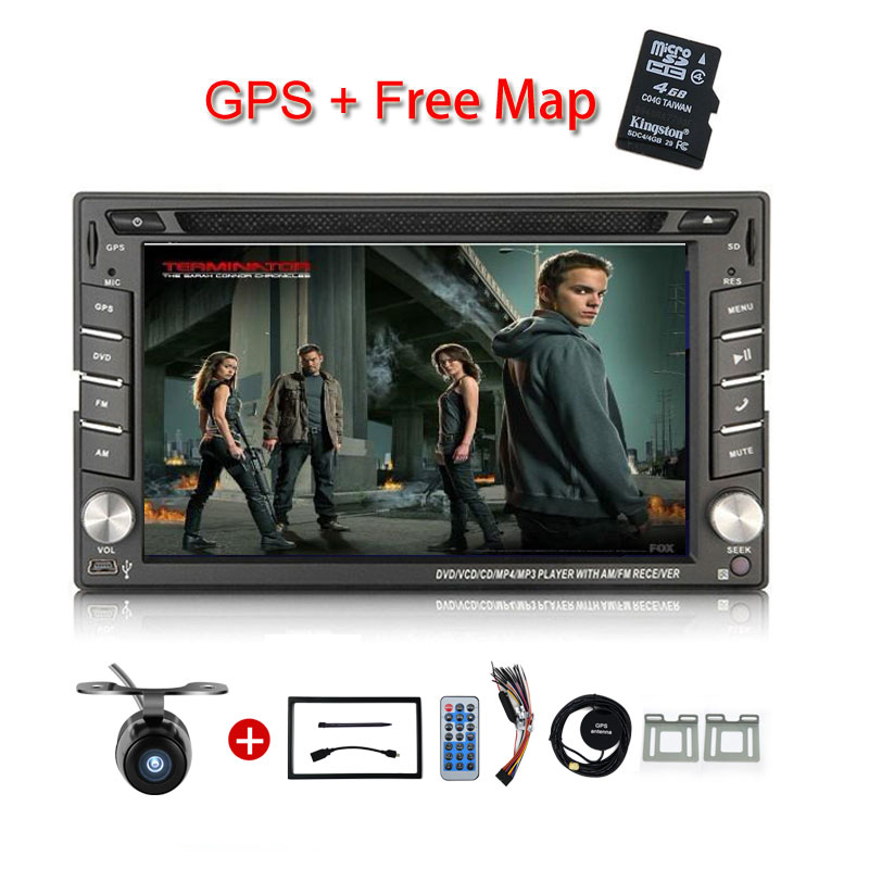New universal Car Radio Double 2 Din Car DVD Player font b GPS b font Navigation