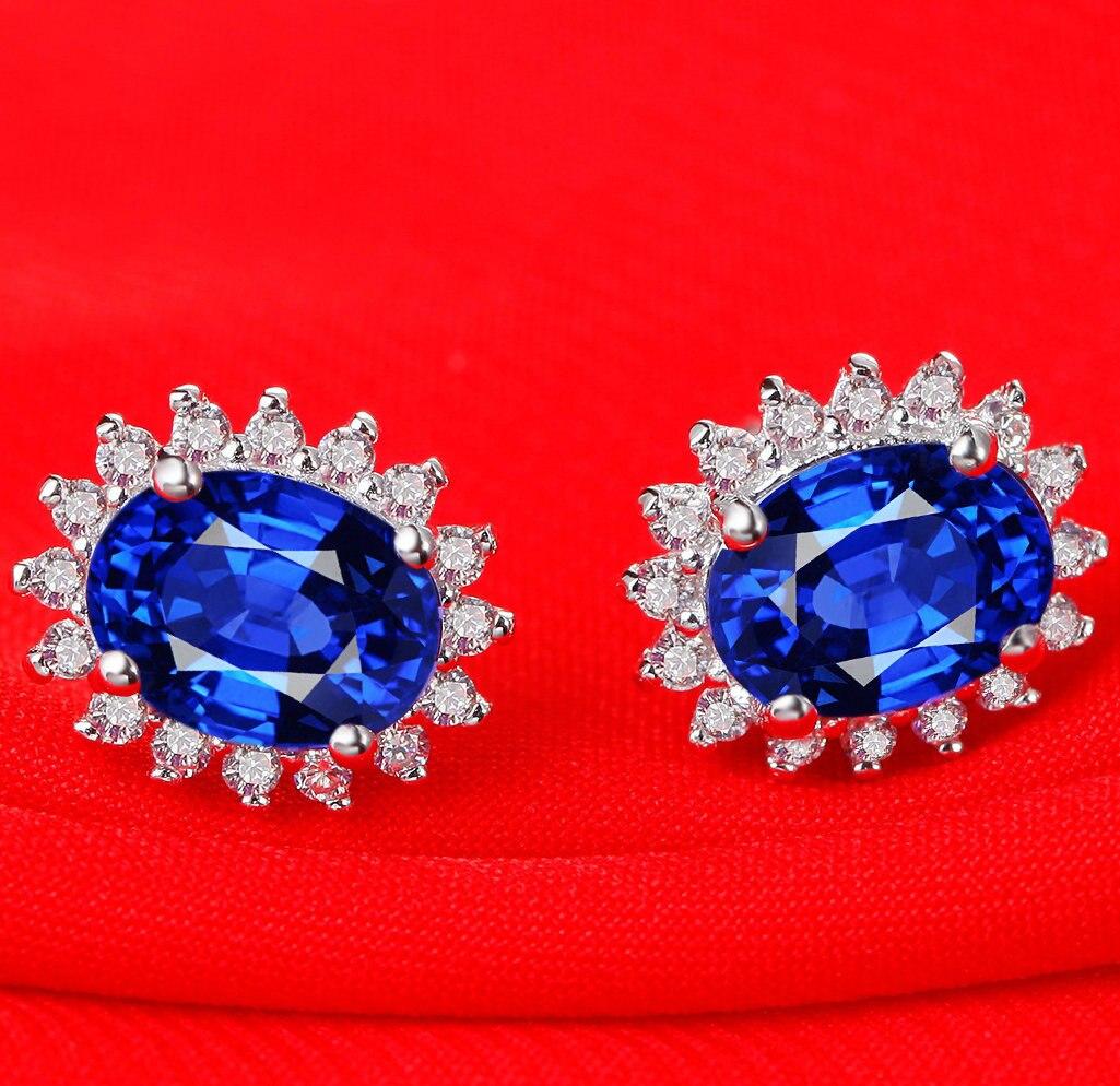 Boucles d'oreilles en argent sterling 925, bijoux anti-allergie pour femmes en gros