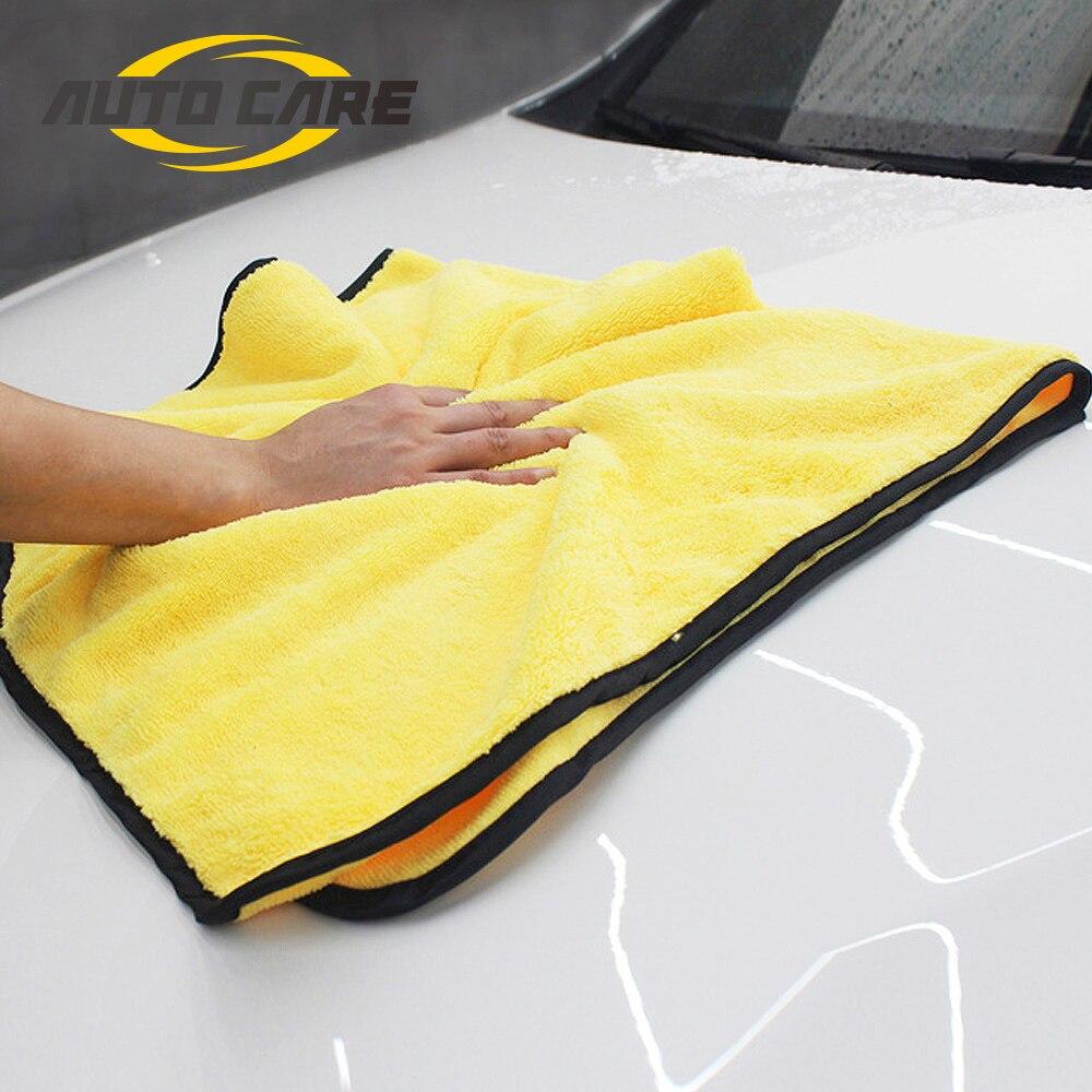 Super Absorbent Car Wash Microfiber Towel Car Cleaning Drying Cloth Large Size 92*56cm Hemming Car Care Cloth Detailing Towel secadora politun