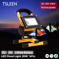 +Cheap+ 6x IP65 Waterproof LED Flood Light Rechargeable Portable Spotlight 20W Cool White Lamp  AC 100-240V  body Sales # TSLEEN
