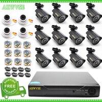 Бесплатная доставка Главная безопасности CCTV Системы 16 каналов AHD 1080 P Камера 2MP Товары теле- и видеонаблюдения 16CH